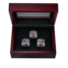Wholesale Name Plate Rings - 2016 CHICAGO CUBS WORLD SERIES CHAMPIONSHIP RING BRYANT RIZZO ZOBRIST REPLICA RIING, 3 PLAYER NAMES AS A SET WITH WOODEN BOX FREE FOR DHL
