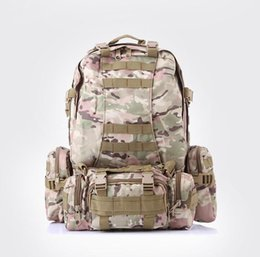 Wholesale Large Capacity Military Backpack - 55L Large Capacity Outdoor Sports Multi-functional 3D Nylon Camouflage Duffel Bag Military Tactical Shoulder bag Camping Backpack Hiking
