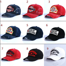 Wholesale Embroidered Cotton Hat - The American and European popular classic cotton hat embroidered baseball cap DSQ5 style wholesale and retail