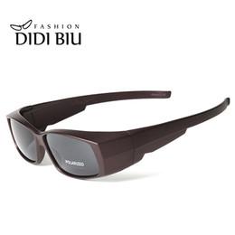 Wholesale Fit Sunglasses - DIDI Polarized Myopia Cover Sun Glasses Women Retro Rectangle Fit Over Glasses Sunglasses Men Brand Clip On Eyewear Gafas U548