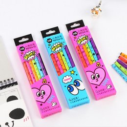 Wholesale Wooden Pencils Set - Wholesale- 12 Pcs lots Cute Kawaii Boyage HB School Classic Novelty Writing Wooden Pencil For Kids Stationary School Office Supplies
