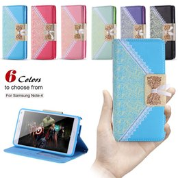 Wholesale Cute S4 Wallet Case - Cute Korean Mini Wallet Flip Leather Mobile Phone Case For Samsung Galaxy s6 edge Note 4 s3 s4 s5 Card Holder Photo Frame Cover Note4 fu