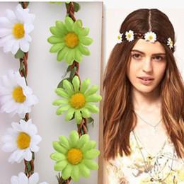 Wholesale Hairband For Bride - Wholesale- New Hair Wreath With Simulation Chrysanthemum Flowers Hairband for Women Party Headdress Wedding Bride Headwear Flower Headband