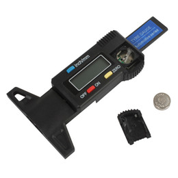 Wholesale Vernier Depth Caliper - Brand New Mini Metal Pin Car LCD Digital Display Tread Depth Gauge   Digital Vernier Caliper INS_418