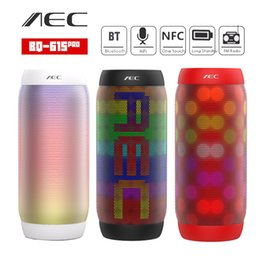 Wholesale Tablet Flash Light - AEC BQ-615 PRO NFC HIFI Stereo Bluetooth Speaker Colorful LED Light Flash Wireless 3.5mm Portable Subwoofer Microphone FM For Phone Tablet