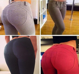 Wholesale butt lifting pants - best price Sexy Women Butt Lift Pants Colombian Brazilian Style Stretchy Skinny Leggings Pencil Slim Jeans Thin Capris Trousers M008