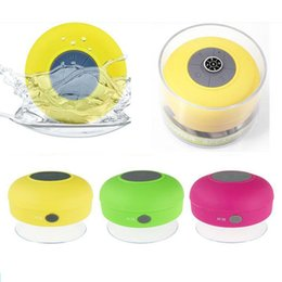 Wholesale Mp3 Player Holder - Bluetooth speakers waterproof portable mini speaker Receive Call mini Suction IPX4 subwoofer support TF card MP3 player with Mic holder