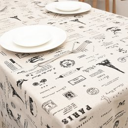 Wholesale Side Table Cover - Cotton Linen Table Cloths 140*250cm Printed Side Table Cloth Covers Dining Room Textile Decoration Home Decoration