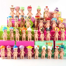 Wholesale Wholesale Kewpie Dolls - 12pcs Sonny angel animals baby doll in boxes toy set 2017 New sonny angel mini figure kewpie kerst baby doll Christmas gift kids