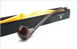 Wholesale Fine Pipes - Fine Carved Wood Pipe Smoking Resin Pipe Style Super Long