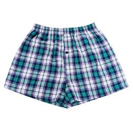 Wholesale Mens Plaid Boxer - Wholesale- Wholesale Classic Plaid Men boxer Shorts Mens Trunks Cotton Cuecas For Male Radom Colors 4 Pieces Set