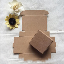 Wholesale Paper Boxes For Cakes - Kraft Paper Bags Gift Packaging Box for Jewelry DIY Soap Baking Bakery Cakes Cookies Chocolate Package Packing Box 50mm*40mm*20mm