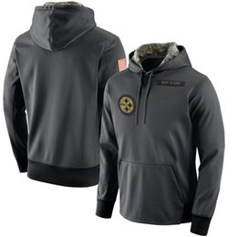Wholesale New Jersey Animals - New Mens Youth Women hoodie Sweatshirts jersey Baltimor Anthracite Salute to Service Player Performance Pullover hoodies
