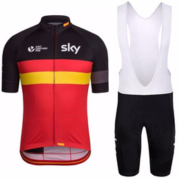 Wholesale Italia Cycle Jersey - 4 countries flag sky Cycling jersey 3D gel shorts suit quick-dry pro bike wear Ropa Ciclismo Italia sky Cycling maillot Culotte