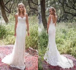 Wholesale Graceful Plus Size Wedding Dress - Limor Rosen 2017 Sexy Spaghetti Straps Backless Wedding Dresses Graceful Full Lace Wedding Gowns Sweep Train Mermaid Bridal Dress