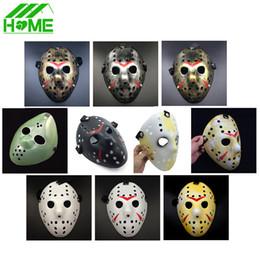 Wholesale Masquerade Mask Killer - Wholesale-Jason vs Friday The 13th Horror Hockey Cosplay Costume Halloween Killer Masquerade Ball Mask Scary Lace Mask Anonymou Masks