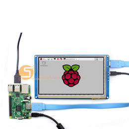 Wholesale 7inch Lcd Display - Freeshipping 7 inch Raspberry pi 2 3 LCD display touch screen 7inch HDMI LCD (B), supports various systems
