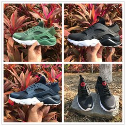Wholesale High Reflective Pvc - 2017 Top quality HUARACHE 4 Reflective Vampire Men Women Running Shoes Airs Fashion Outdoor Sports Casual Sneakers Size 36-46 Free Shipping