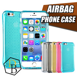 Wholesale gold corner - New Air Cushion TPU Case for iPhone 6 Flexible Slim Bumper with Shockproof Protective Cushion Corner Scratch Resistant For Galaxy S6 S5