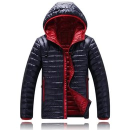 Wholesale ultralight parka - Wholesale- Sale Brand Winter 2017 Men ultralight puffer jackets Duck Jacket, Parka Clothing Hood winter feather jacket men coat