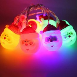 Wholesale Vintage Red Light Bulb - Wholesale- Snowman String Lights with Clear Bulb Backyard Patio Lights Vintage Bulbs Decorative for Christmas Santa Claus lamp Holiday