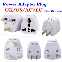 Wholesale Universal Travel Converter Adapter - Universal Travel Adapter EU US AU to UK AC Travel Power Plug Charger Adapter Converter 250V 10A Socket Converter White