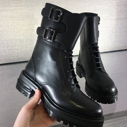 Wholesale Border Print Fabric - fashionville*u748 black genuine leather short boots