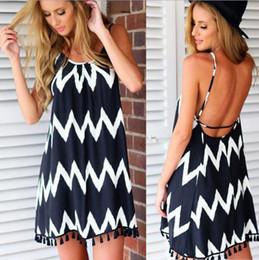Wholesale Hot Women Sleeveless Shirts - Wholesale- 2017 hot sale long tee shirt for women sleeveless o-neck casual striped ladies moda female poleras mujer vetement famme t-shirts