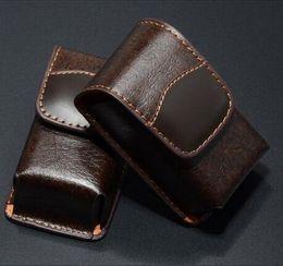 2019 ceintures de miroir Haut de gamme lunettes boîte portable pliant lunettes de lecture miroir cas cuir ceinture lunettes de lecture cas 20pcs / Lot Livraison gratuite promotion ceintures de miroir