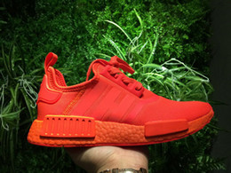 Wholesale Pvc Solar - 2017 Hot Sale NMD R1 Solar Red Shoes S31507 Perfect High Quality Version NMD RI Sneaker Shoes Wholesale