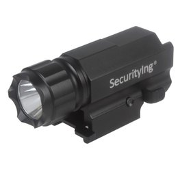 Wholesale Camping Flashlight Design - SecurityIng CREE 800LM Gun Torch Light Flashlight with Quick Release Weaver Mount Super Mini and Lightweight Design Strong Modes LEF_S50