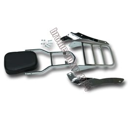Wholesale Backrest Rack - Chrome Backrest Sissy Bar Luggage Rack For Yamaha Vstar DS400 650 96-97