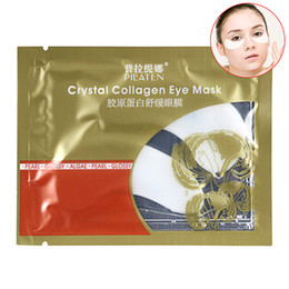 Wholesale Eye Crystals Sticker - Wholesale- 5 Pairs PILATEN Crystal Collagen Eye Mask Sticker Anti-aging Anti-puffiness Moisturizing Eye Care