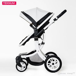 Wholesale Reversible Seat Pram - New arrive Baby Stroller High View Prams Four Wheel Can Sit Baby Trolley Can Be Folded Two-Way baby carriage portable stroller