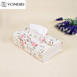 Wholesale Zakka Japan - Wholesale- zakka fabric home Cotton Car Home pumping tray Fresh tissue boxes
