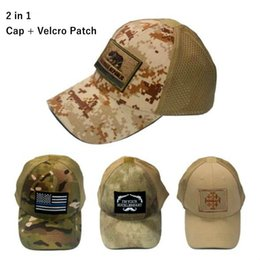VC-17 Men Women summer Baseball Cap with patch 2 in 1 mesh Tactical Cap Sun  Hat Outdoor Hunting Camping special forces military hats 38250787f211
