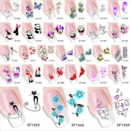 Wholesale Top Nail Water Decals - Wholesale- 1 pc Top Sell Flower Bows Etc designs Water Transfer Sticker Nail Art Decals Nails Wraps Temporary Tattoos Watermark Nail Tools