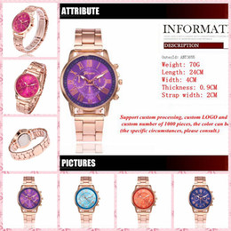 Wholesale Geneva Double Watch - 2017 burst fashion stainless steel with a watch 14 color Geneva classic three-sided double-sided watch wholesale