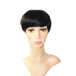 Wholesale Cheap Price Human Hair Wigs - Short human hair wigs fashion style full none lace front wigs for black women factory price cheap straight hair wigs