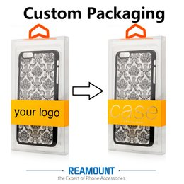 Wholesale Dust Proof Mobile Phones - Colorful Hanger Custom Company LOGO Dust-proof PVC Transparent Packaging Box for Samsung s8 plus Mobile Phone Case Cover with Inner Tray