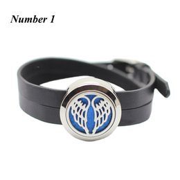 Wholesale leather bracelets magnetic clasps - New arrival! 25mm silver magnetic perfume locket bracelt 316l stainless steel oil diffuser bracelet with PU leather band