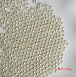 Wholesale Brilliant Pearl - 10000PCS bag no Hole Milky White Round Faux Pearl Beads Imitation Plastic Pearl Balls Without Hole Jewelry Custom Decoration