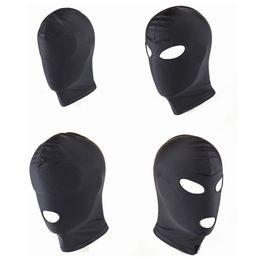 Wholesale Spandex Bondage - New Arrival Adult games Fetish Hood Mask BDSM Bondage Black Spandex Mask Sex Toys For Couples 4 Specifications To Choose