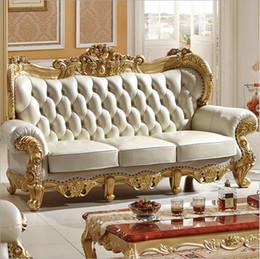 Натуральная кожа гостиной онлайн-новое прибытие горячий продавать высокое качество европейский антикварный гостиная диван мебель из натуральной кожи набор 10095