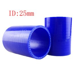 Wholesale Elbow Silicone Hose - RS.MTX Universal ID:25mm 3-Ply 0 degree Straight Silicone Hose Intercooler Coupler Tube Pipe Silicone 0 degree straight the intake elbow