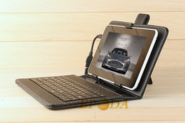 Wholesale Interface Leather - Universal Stand Leather Case with Micro USB Interface Keyboard for MID Tablet PC for Sansuam tab 3 7in for all 7 9 9.7 10.1 inch Case