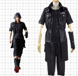 Wholesale Male Fantasies - Final Fantasy Noctis Lucis Caelum Cosplay leather Costume includes Jacket pants glove t-shirt