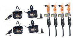 Wholesale Carbon Motors - Wholesale- 4x EMAX Simonk 12A ESC + 4x 2204 2300KV Motor for 250mm QAV250 280 Multi Quadcopter
