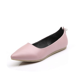 Wholesale Cheap Plus Size Flat Shoes - Spring Flats for women Summer dress Shoes Plus size 43 Wedding Shoe Casual School shoes Woman Cheap online stores Box Packing Z2-5