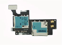 Wholesale Note Sim Tray - 10pcs lot MicroSD SIM Card tray holder Reader Memory Card Connector Flex Cable Ribbon for Samsung Note 2 n7100